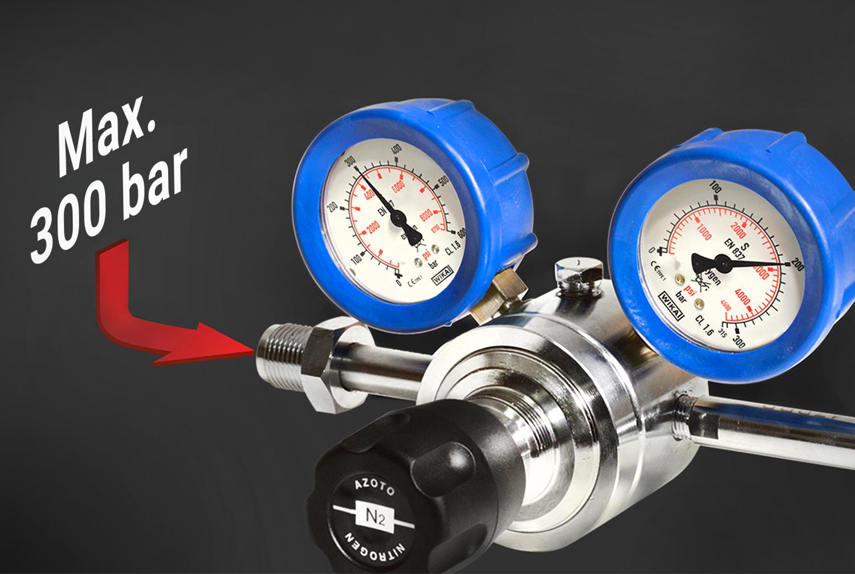 New pressure reducer 300 bar / 4350 psi